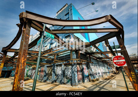 Meat processing plant remaining structure in the Meatpacking district (13th St & 10th Ave). April 2004, Manhattan, - Stock Photo