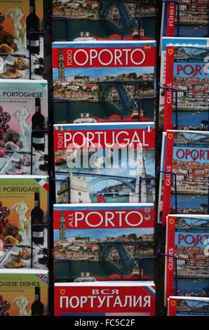 Guide books on Portugal - Stock Photo