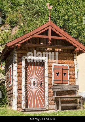 Garden shed in country style - Blockhaus - Stock Photo