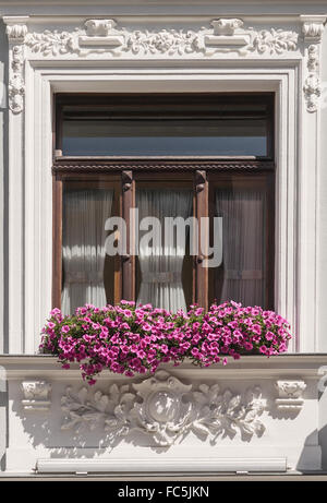 Window detail of a restored old building - Stock Photo