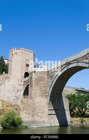 River under the Roman bridge - Stock Photo