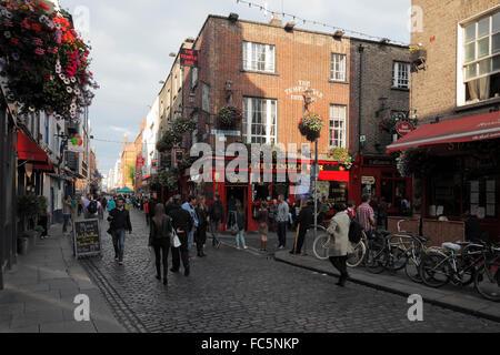 The Temple Bar in Dublin - Stock Photo