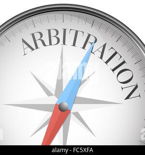 compass Arbitration - Stock Photo