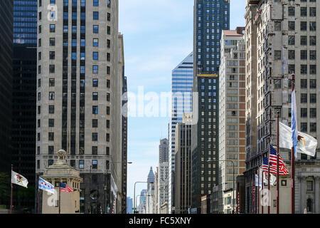 Michigan Avenue in Chicago - Stock Photo