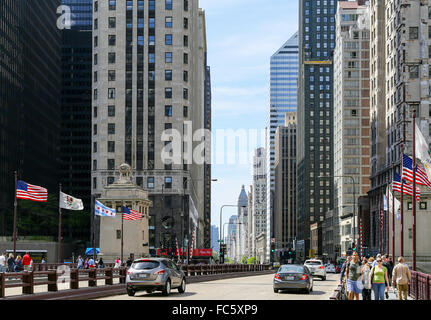 Magnificient Mile in Chicago - Stock Photo