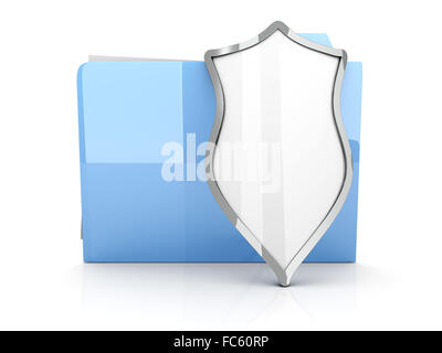 A shielded and encrypted Folder - Stock Photo