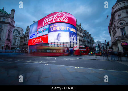 Piccadilly Circus, London - Stock Photo