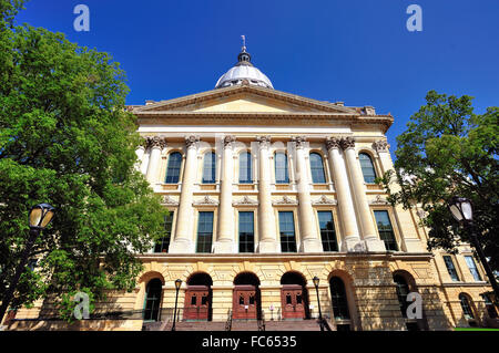 The State Capitol Building in Springfield, Illinois. The capitol is in the French Renaissance architectural style. - Stock Photo