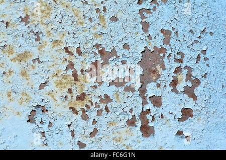 rusted metal with flaking paint - Stock Photo