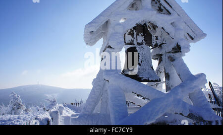The Peace Bell on the Fichtelberg - Stock Photo