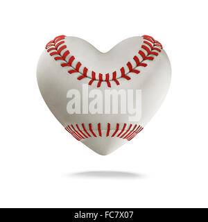 Sport equipment valentine red heart love symbol with dart as stock baseball heart 3d render of heart shaped baseball stock photo altavistaventures Images
