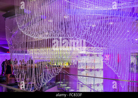 Chandelier Bar in The Cosmopolitan, Las Vegas, Nevada Stock Photo ...