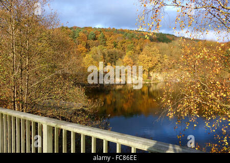 water reservoir biggesea, sauerland,germany - Stock Photo