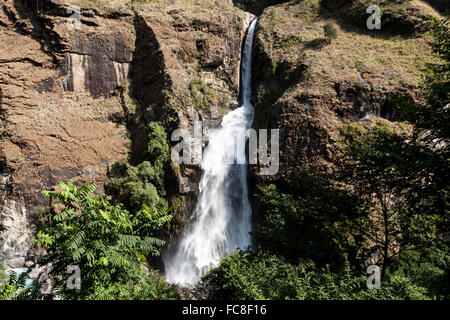 Waterfall in Nepal, Annapurna Conservation Area - Stock Photo