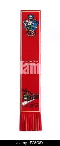 A coronation street souvenir bookmark - Stock Photo