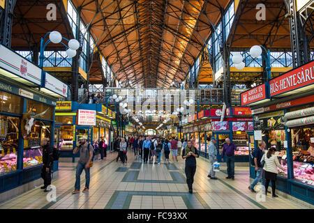 Grand market hall, Budapest, Hungary, Europe - Stock Photo
