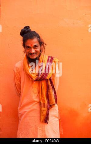 Sadhu, Varanasi (Benares), Uttar Pradesh, India, Asia - Stock Photo