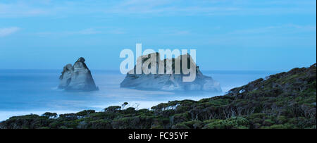 Night at Wharariki Beach on west coast of South Island, Nelson, South Island, New Zealand, Pacific - Stock Photo