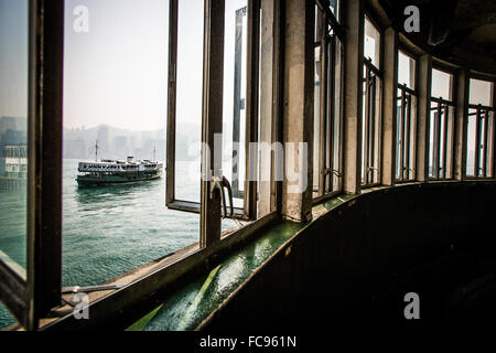 Star Ferry from Kowloon, Hong Kong, China, Asia - Stock Photo