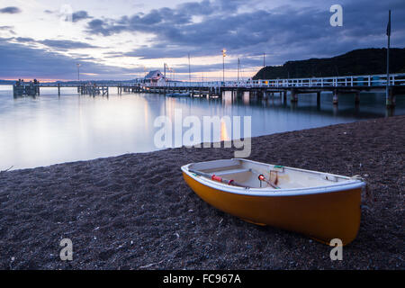 Boat, Russell, Bay of Islands, North Island, New Zealand, Pacific - Stock Photo