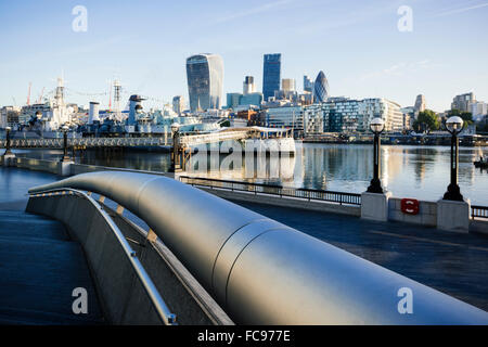 View of City from More London Place, London, England, United Kingdom, Europe - Stock Photo