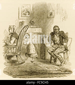 from 'The Ebony Idol' by Mrs G.M. Flanders (1800-1856) published is a pro-slavery novel written in response to Harriet - Stock Photo