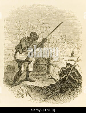 from 'The Ebony Idol' by Mrs G.M. Flanders (1800-1856) published in 1860 is a pro-slavery novel written in response - Stock Photo