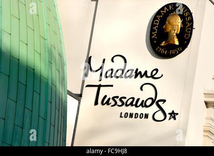 London, England, UK. Madame Tussauds in Marylebone Road - waxworks museum - Stock Photo