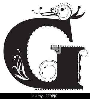 Decorative letter - Stock Photo