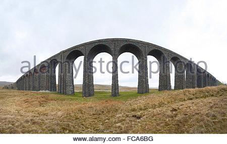 Ribblehead Viaduct, North Yorkshire - Stock Photo