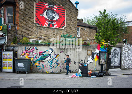 Street Art in Turnpike Lane, Haringey, North London - Stock Photo