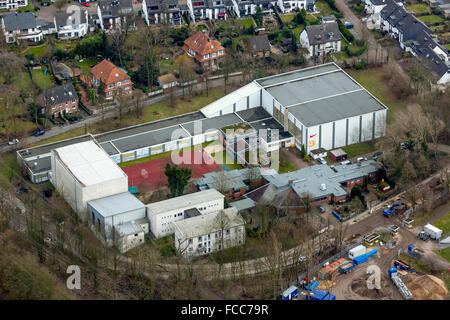 Aerial view, Olympic Base Hollandstr Klaus-Steilmann House, Wattenscheid, Gelsenkirchen, Ruhr Area, North Rhine - Stock Photo