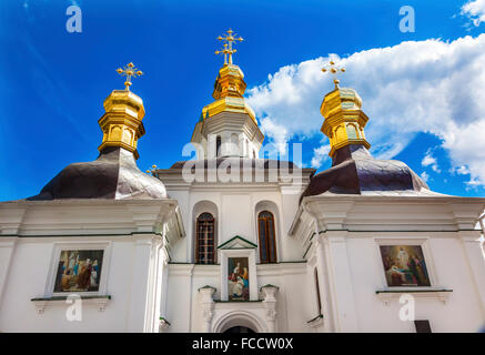 Birth Blessed Virgin Church Holy Assumption Pechrsk Lavra Cathedral Kiev Ukraine.  Oldest Orthodox Monastery In - Stock Photo