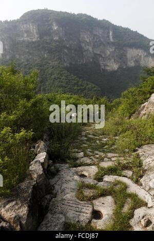 Baixing ancient road Taihang Mountains Huixian city Xinxiang City Henan Province China