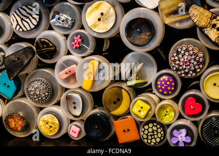 Full Frame Shot Of Multi Colored Buttons - Stock Photo
