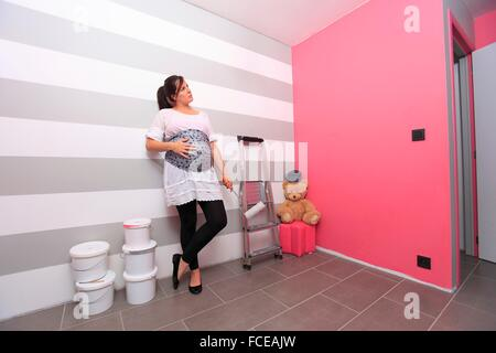 Newly Painted Room Pregnant