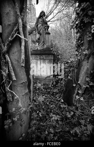 Black And White Photography Of The Obituary Symbolism Of A Grave