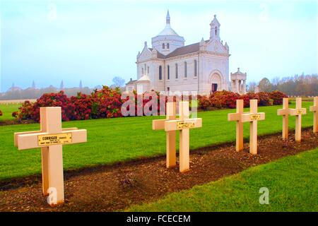 Notre Dame de Lorette (aka Ablain St. -Nazaire French Military Cemetery) is the world´s largest French military - Stock Photo