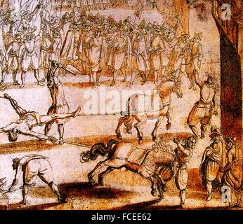 France. History. Death of Ravaillac, 27th. of may 1610. François Ravaillac ; 1578 - 27 May 1610) was a French factotum - Stock Photo