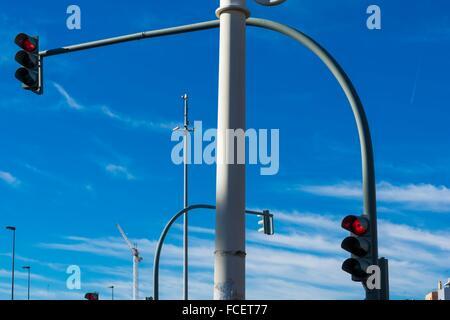 Semaphore, Valencia, Spain. - Stock Photo