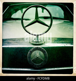 Mercedes-Benz logo. - Stock Photo