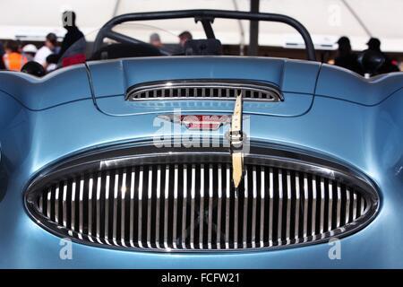 Detail of classic race car Austin Healy 3000 MkII. Melbourne, Australia. - Stock Photo