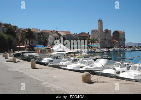 Croatia Dalmatia Dalmatian coast Vis island the town of ...