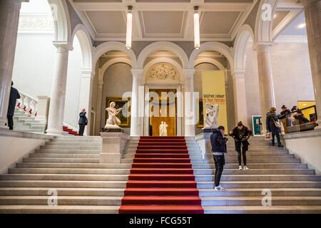 Alte Nationalgalerie ,Antigua Galería Nacional, Isla de los Museos, Berlin, Germany - Stock Photo