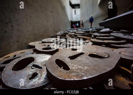 Shalechet (fallen leaves), art installation by Menashe Kadishman, Jewish Museum (architect: Daniel Libeskind) , - Stock Photo