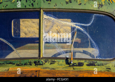 abandoned truck in ghost town of Bodie, California - Stock Photo