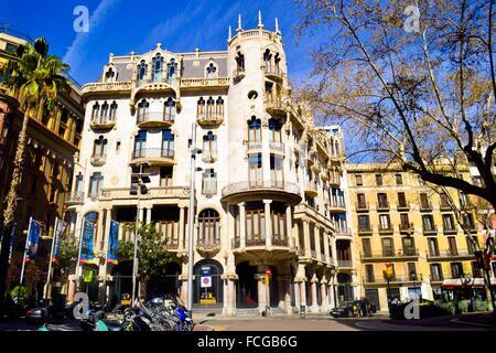 Hotel casa fuster by lluis domenech i montaner barcelona catalonia stock photo royalty free - Hotel casa gracia barcelona ...
