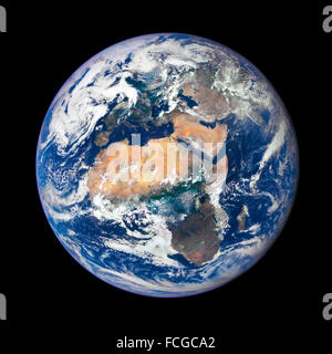 Image of Earth taken on July 29, 2015 by a NASA camera on the Deep Space Climate Observatory (DSCOVR) satellite. - Stock Photo