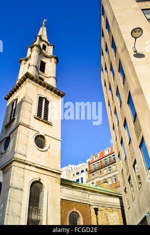St Vedast Alias Foster Catholic Church, Foster Lane, Cheapside in the City of London, built by Sir Christopher Wren. - Stock Photo
