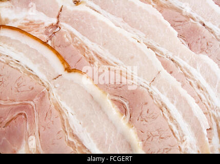 Background with sliced bacon - close-up image - Stock Photo